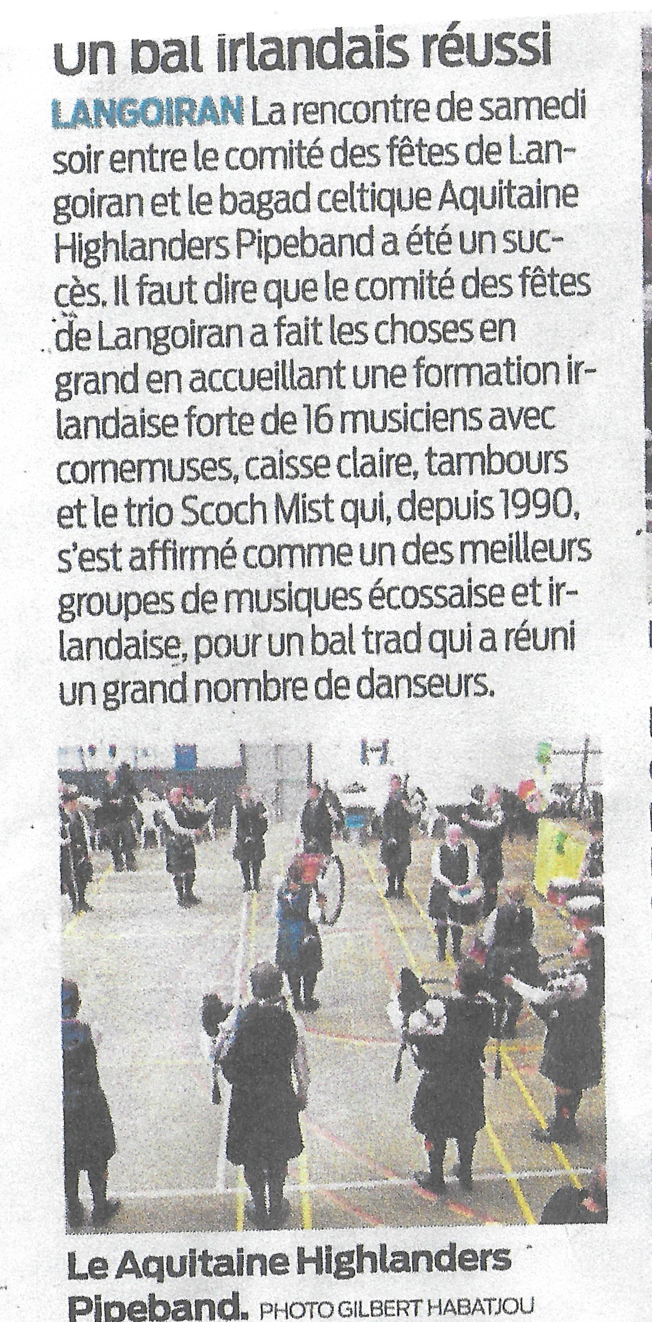 article et photo St Patrick 2019